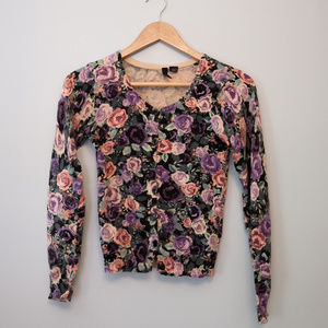 H&M Divided floral pattern cardigan